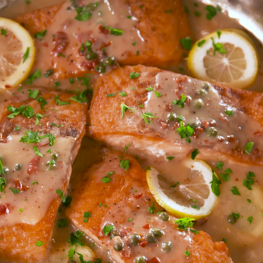 Photo of Tender Lemony Salmon Piccata Is Ready in 30 Min