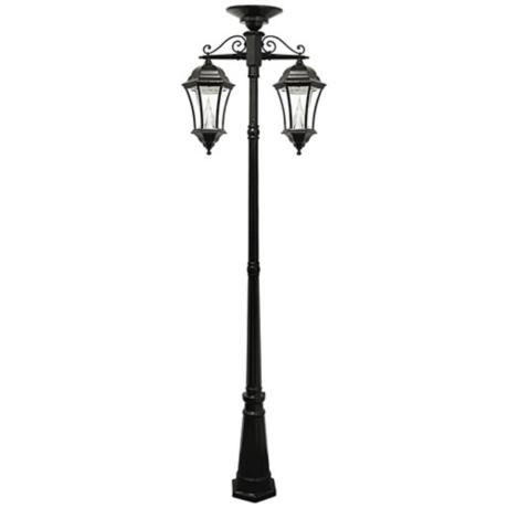 Victorian Black 90 High 2 Light Solar Led Post Light Solar Powered Lamp Outdoor Lamp Posts Lamp Post