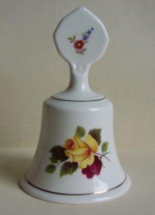 Staffordshire Fine Bone China Rose Pattern Bell