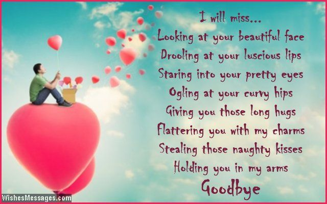I will miss looking at your beautiful face I will miss drooling at - goodbye note