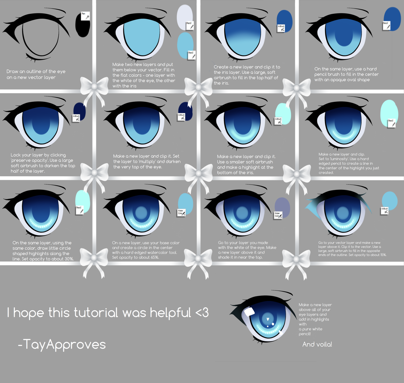Scribble Drawing Tutorial : Sai eye tutorial by iseanna viantart on deviantart