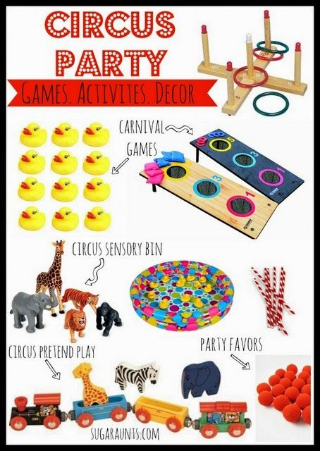 Circus Party Items for Games, Activities - The OT Toolbox