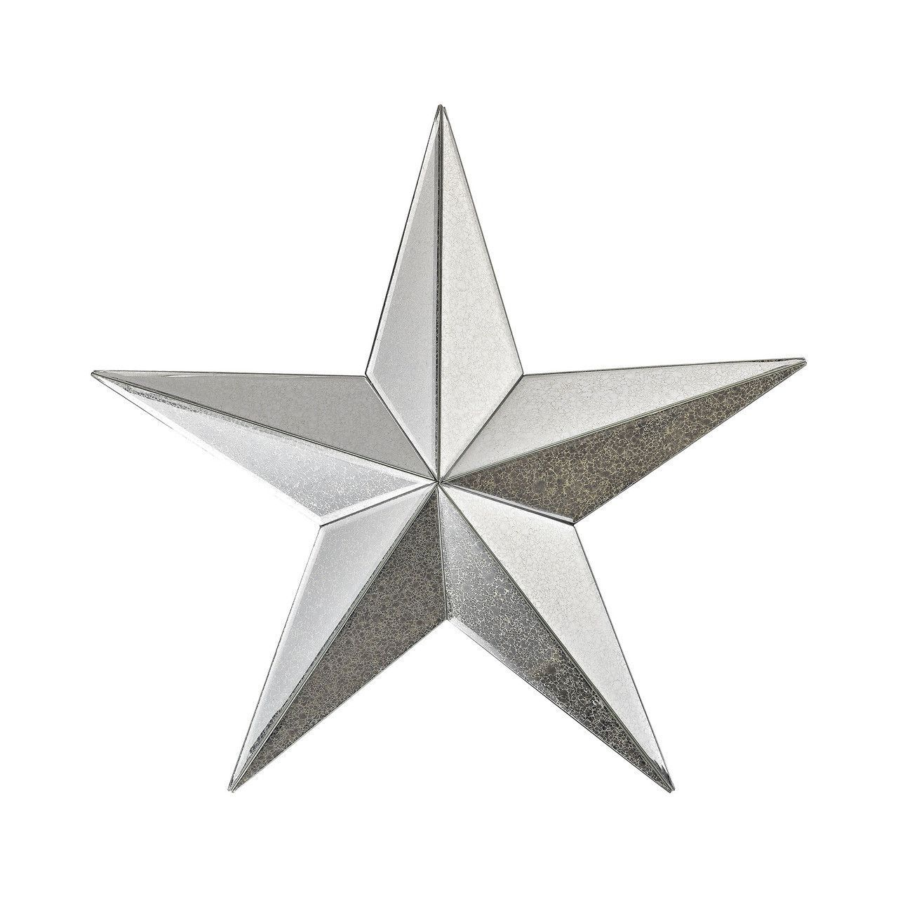 Wishmaker Antiqued 18 Inch Mirrored Star Wall Decor 1114 180