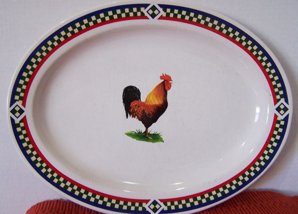 Chicken Platter  Ellau0027s Rooster  International Tableware Bob Timberlake & Chicken Platter
