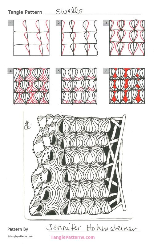 Online Instructions For Drawing Jennifer Hohensteiner's Zentangle Impressive Zentangle Patterns To Print