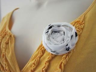 Fabric Rose Brooch