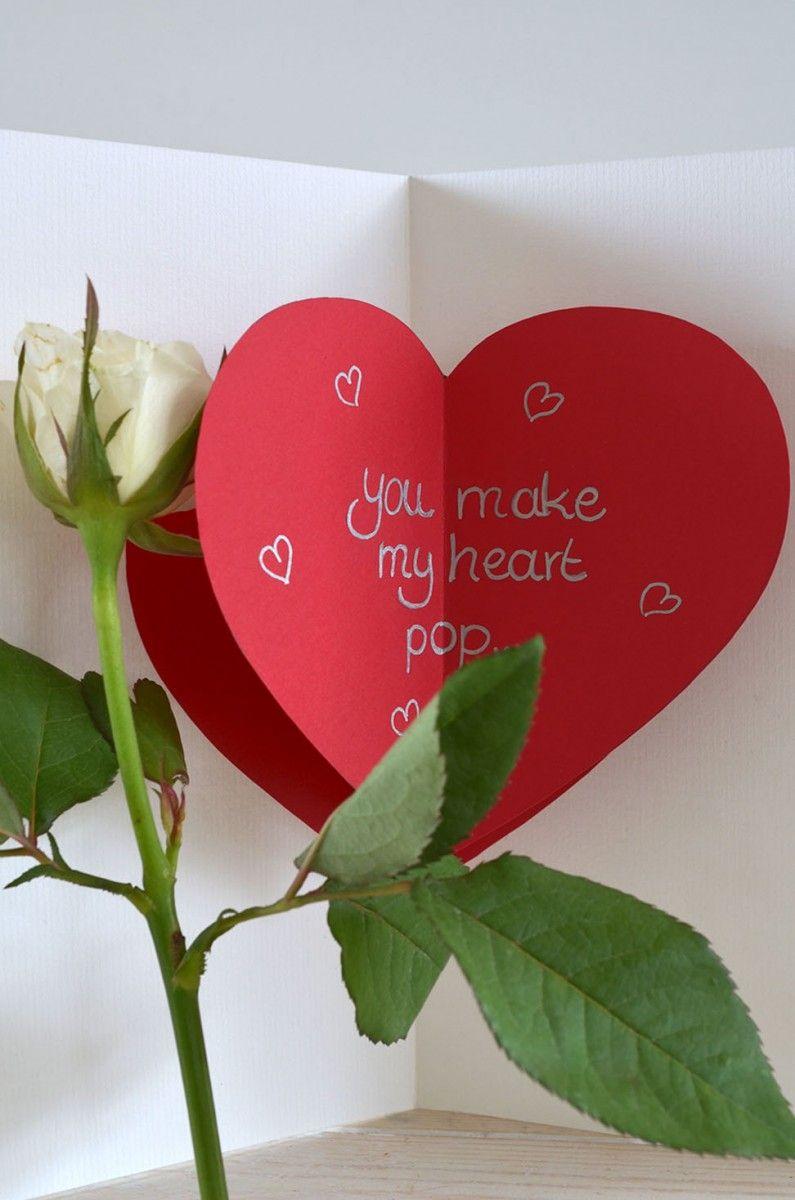 Diy Pop Up Valentines Day Card Diy Pinterest Valentines Day