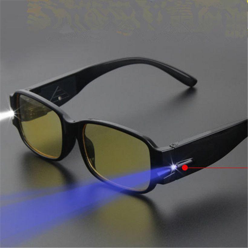 LED Lesebrille Frauen Männer Brillen Brillendioptrien Lupe Licht UP ...