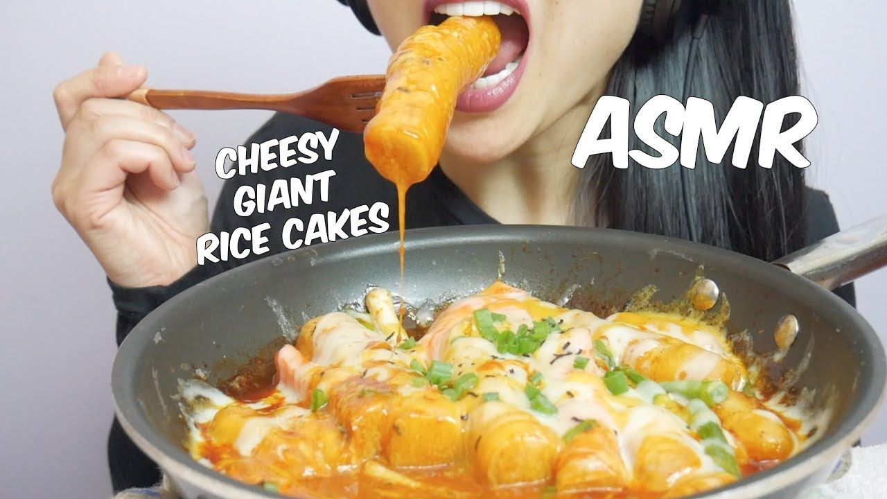 Asmr Cheesy Spicy Giant Korean Rice Cakes Extreme Chewy Eating Sounds Korean Rice Cake Delicious Healthy Recipes Rice Cakes With more than 2.2 billion total video views, sas became a youtube phenomenon specializing in eating, whispering and mukbang asmr content. asmr cheesy spicy giant korean rice
