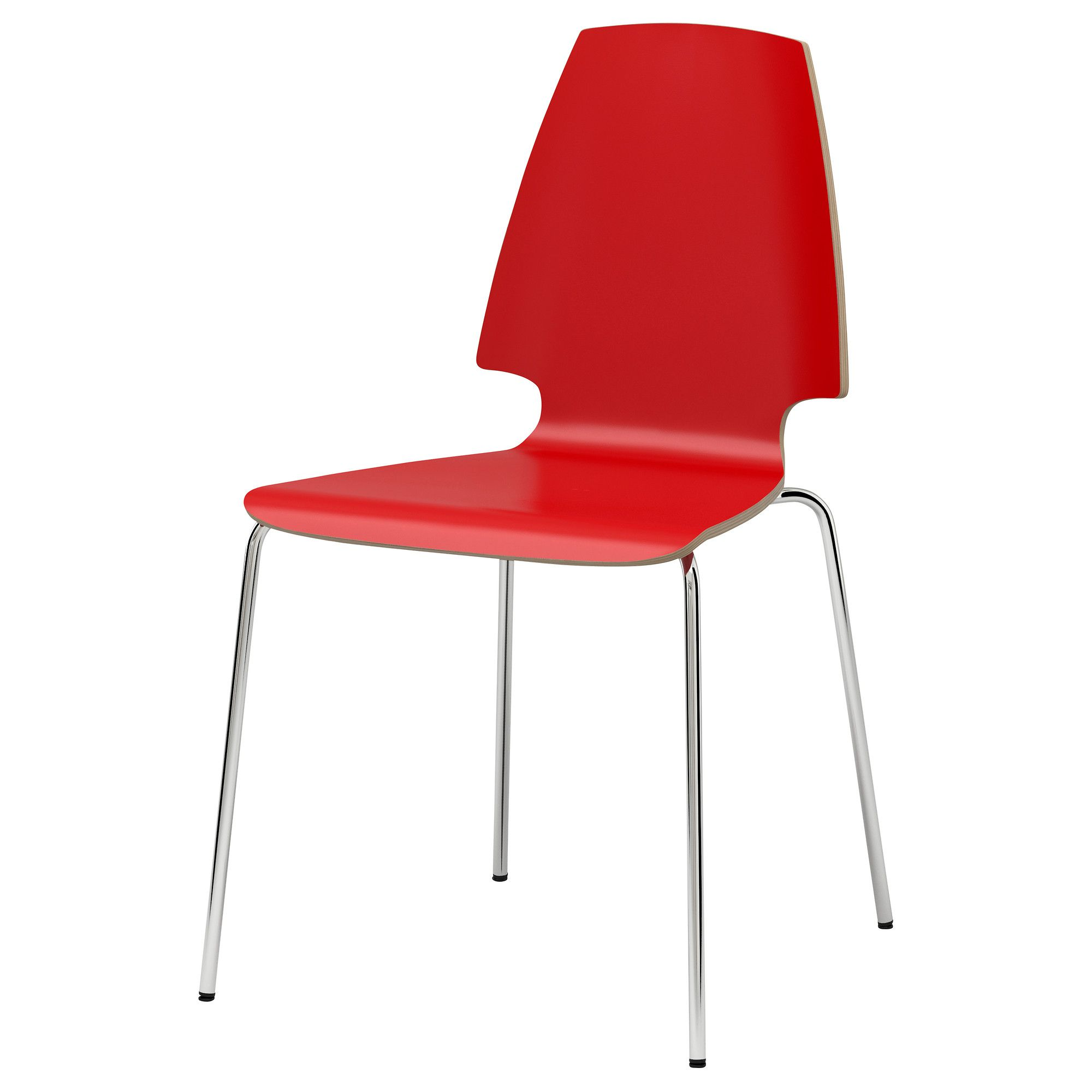 Vilmar Chair Red Chrome Plated Ikea 150 00