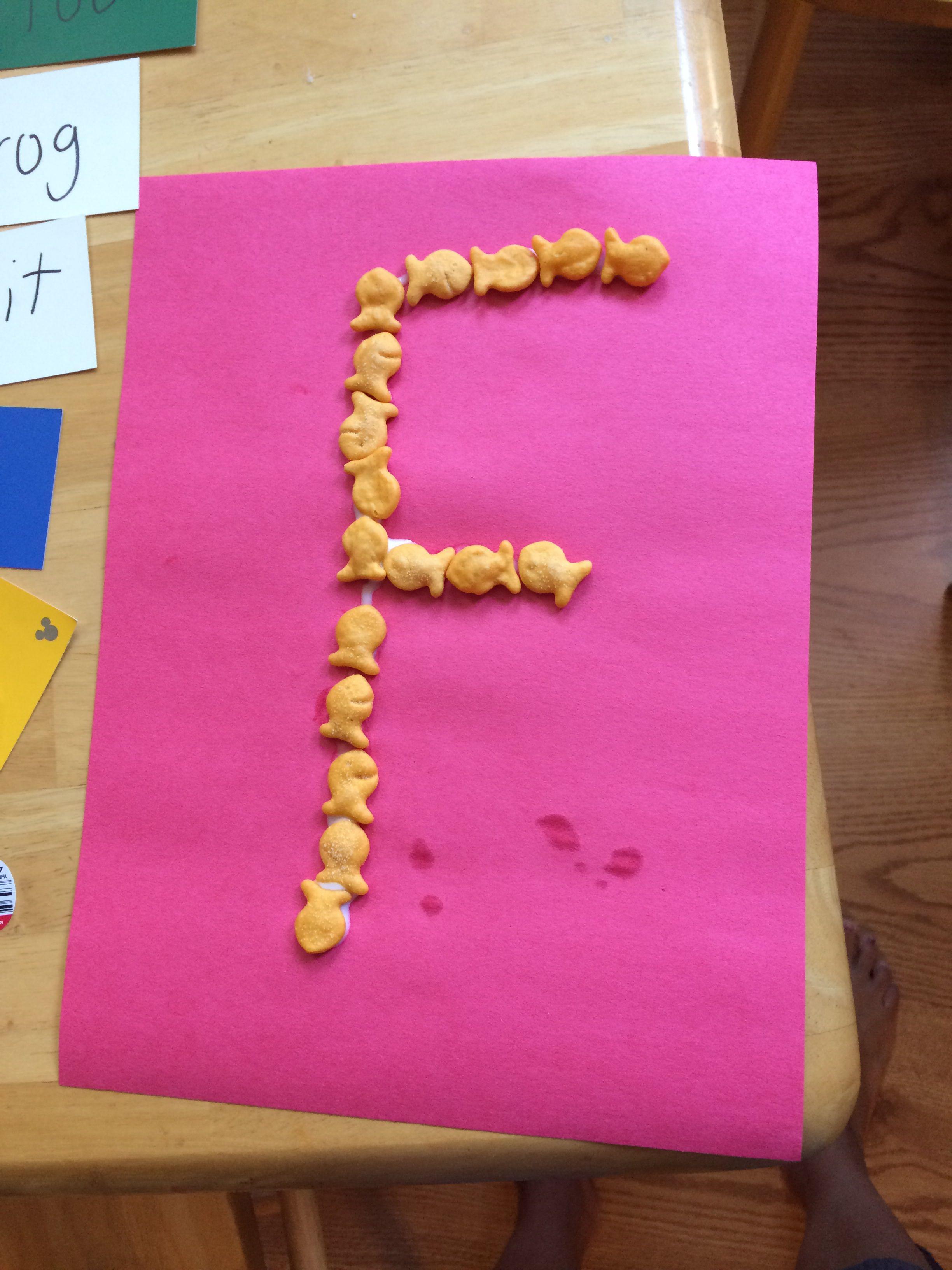 F Is For Fish Preschool Kindergarten Letter Recognition