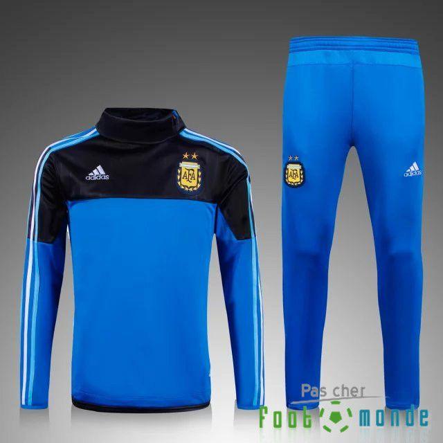 nouveau survetement de foot argentine bleu noir 2015 2016 officiel maillot real madrid manche. Black Bedroom Furniture Sets. Home Design Ideas