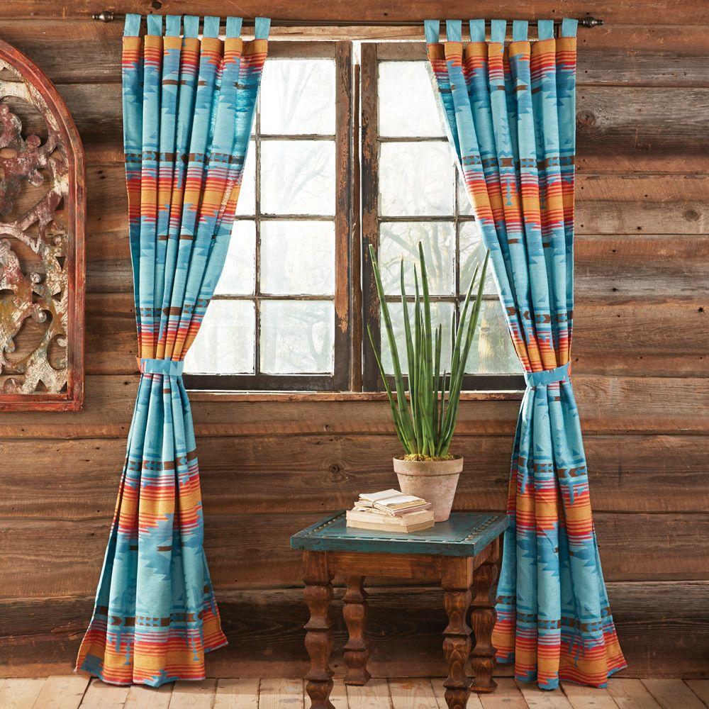 Desert Dance Southwestern Drapes Western Bedding Southwestern Bedding Southwestern Curtains