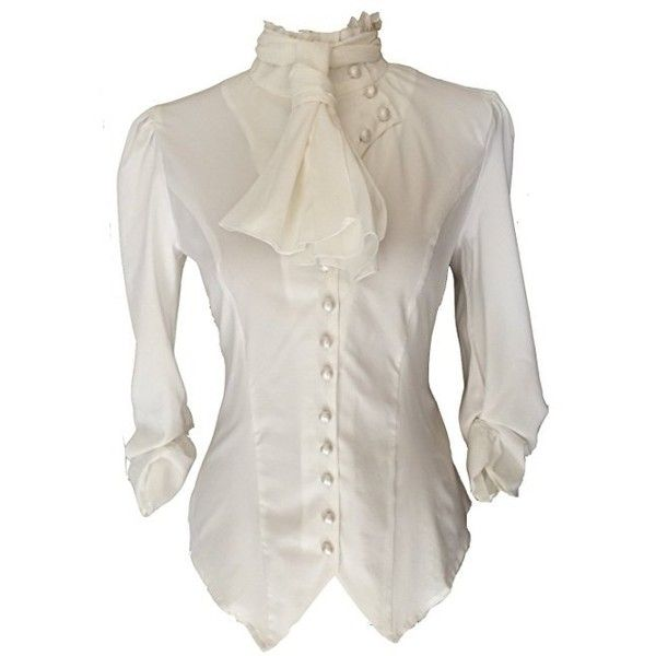 Neck Polyester Costume Blouse Asst Pirate Blouse Ladies White Ruffled V Sizes