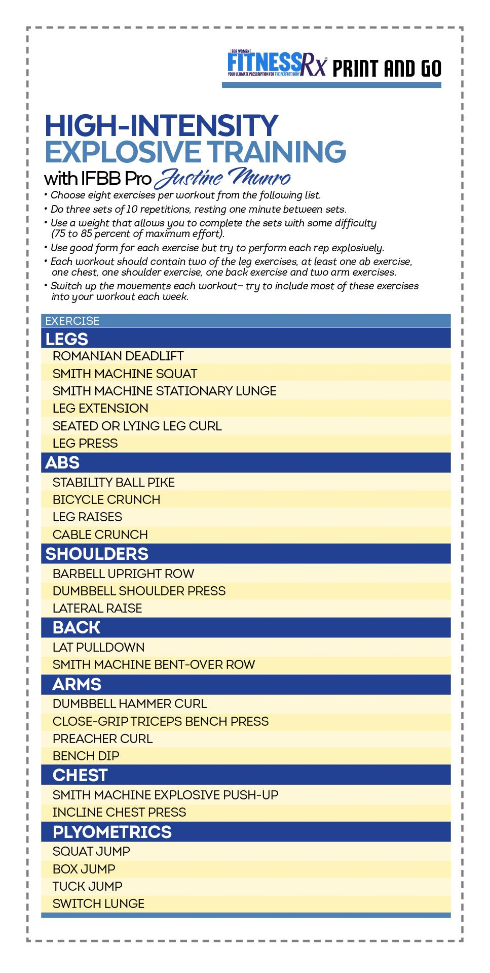 High Intensity 4 Week Transformation Plan Plyometric Workout Gym Training Program High Intensity Workout