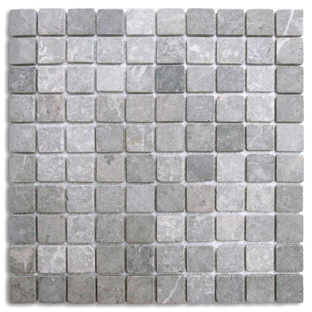 Portofino Marmor Mosaic 3x3 Cm Gra Mosaic Flooring Tile Floor