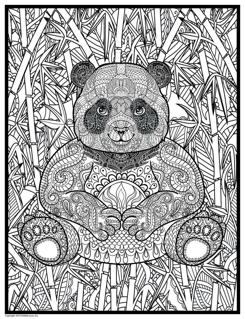 Super Huge 48 X 63 Coloring Poster Panda Coloring Pages