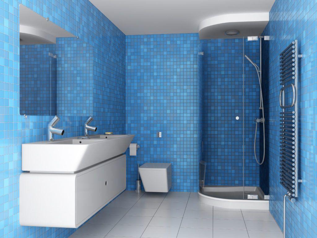 Badezimmer ideen blau badezimmer blau mosaik  badezimmer kreativ gestalten  pinterest