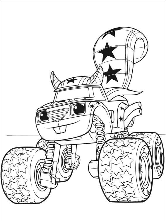 Darington Blaze And The Monster Machines Coloring Pages Monster Truck Coloring Pages Truck Coloring Pages Nick Jr Coloring Pages