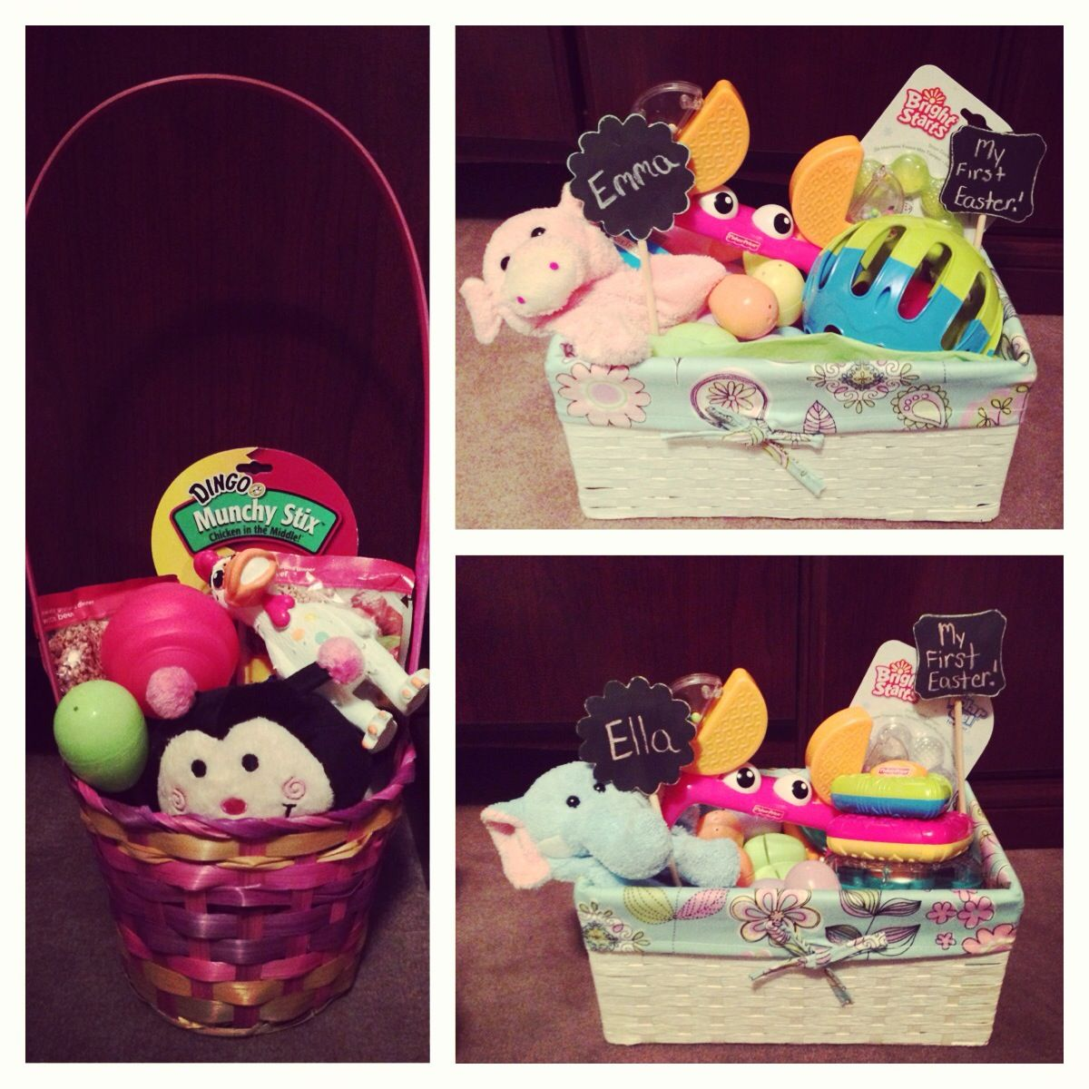 My dogs easter basket and a basket for each of my twin girls my dogs easter basket and a basket for each of my twin girls they negle Images