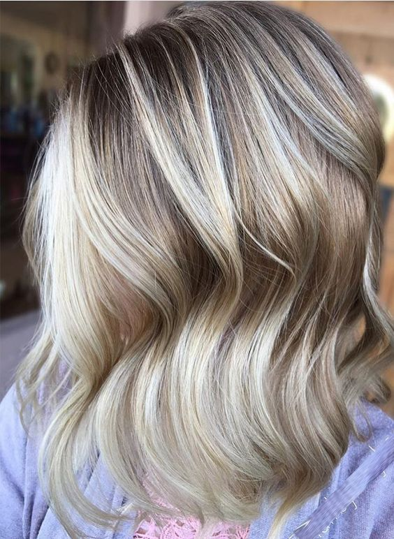 Excited Blonde Balayage Fall Winter Highlights 2017 2018 Hair