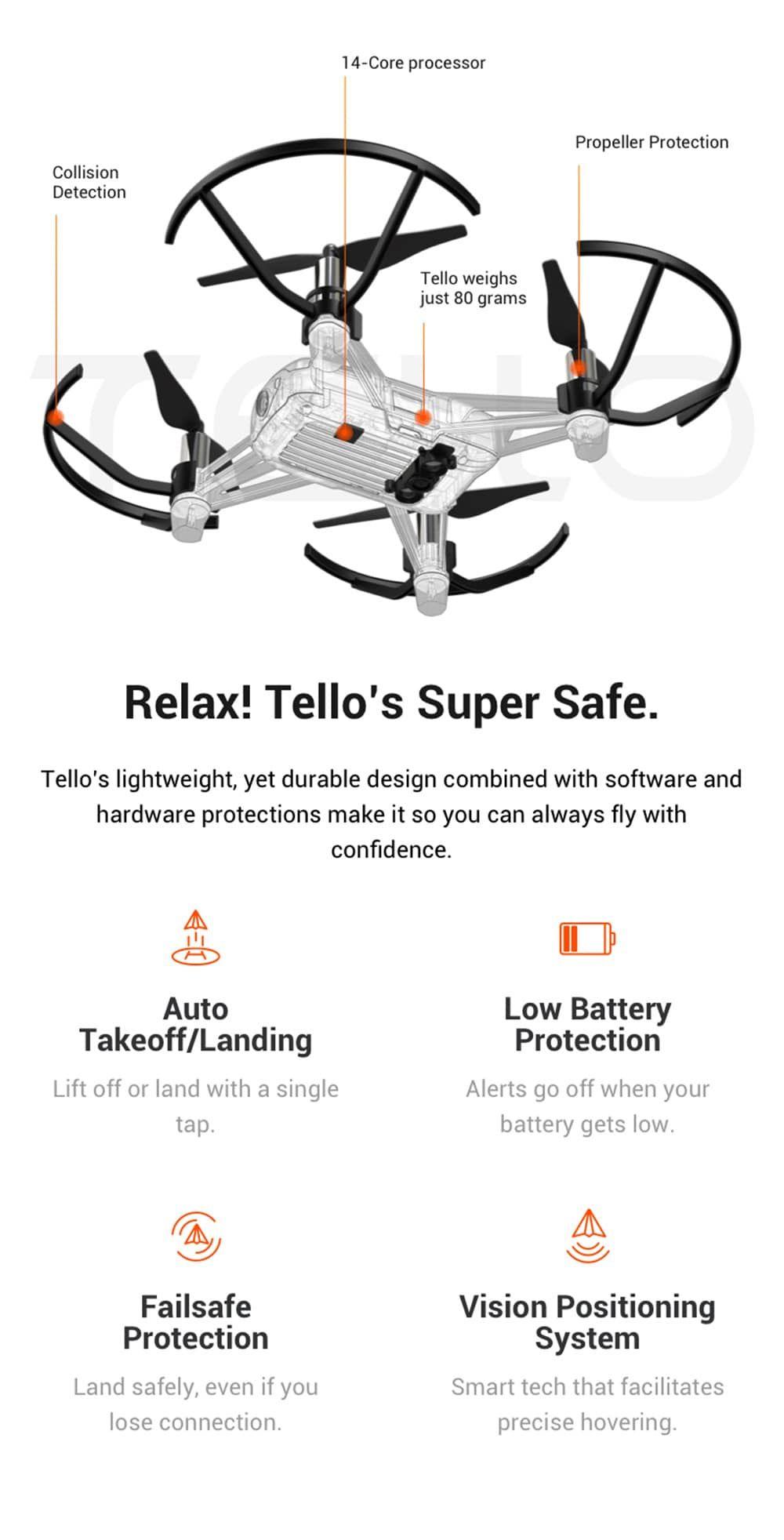 DJI Ryze Tello RC Drone HD 5MP WiFi FPV | Toys and Hobbies