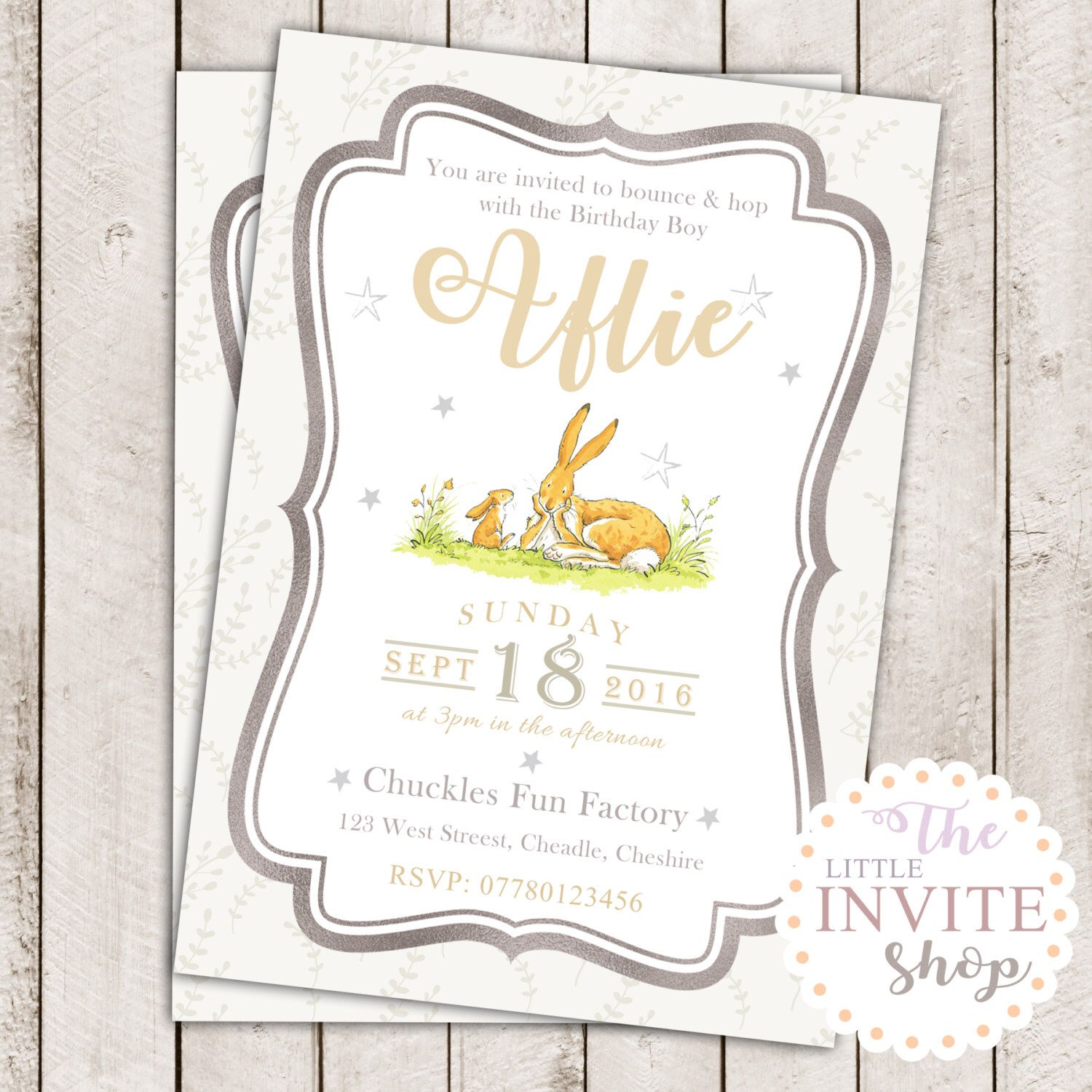 Printable Personalised Guess How Much I Love You NutBrown Hare ...