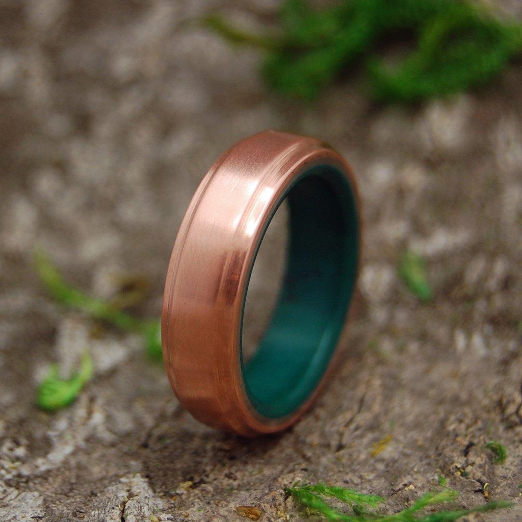 Copper Moxie Copper And Jade Mens Wedding Rings Mens Wedding Rings Gold Diamond Wedding Band Hunting Wedding Rings