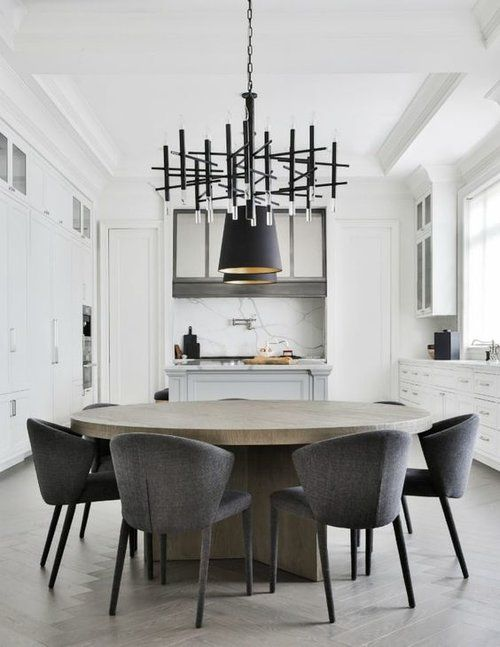 7 Savvy Favorites: Contemporary & Modern Round Dining Room Tables — The Savvy Heart