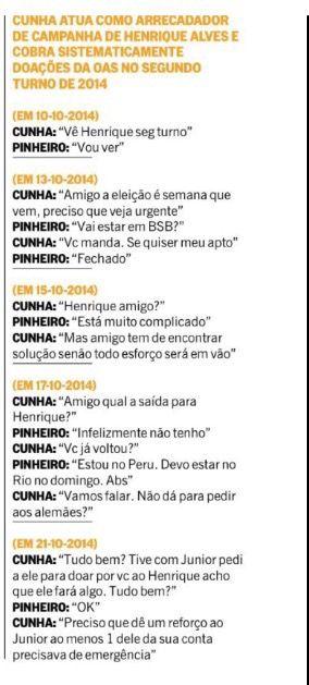 "BFC: Laja jato: Folha ""escancara"" diálogo de  Henrique ..."