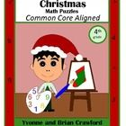 Christmas Common Core Math Puzzles for the fourth grade.  Are your students bored of doing the same old math problems?  Try this book that has uniq...