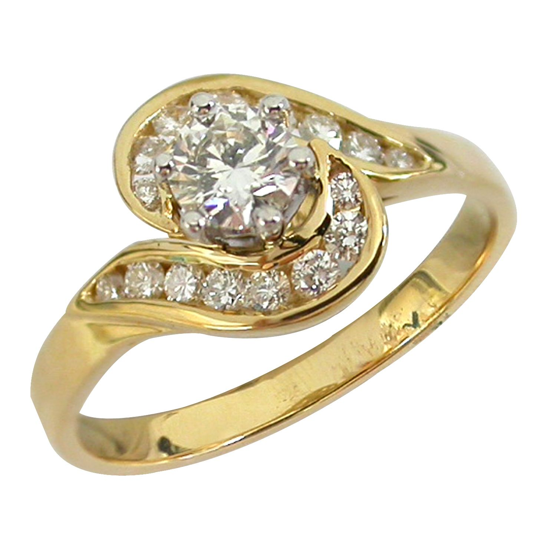 18K Y & W Gold Canadian Diamond Ring 0.74ct TDW SJ0015