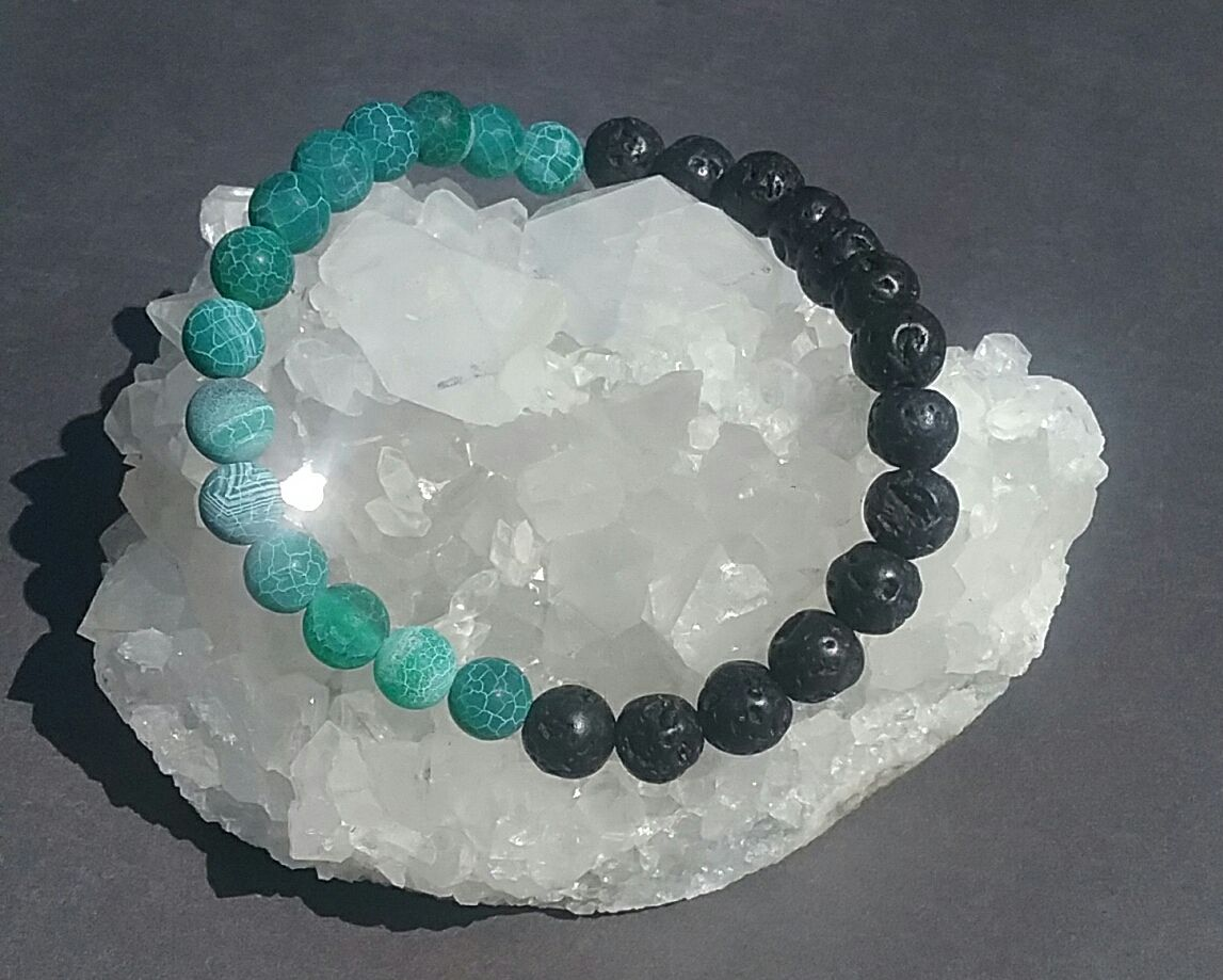 Black lava beads are made from the lava that bubbles up once the stone is cool…