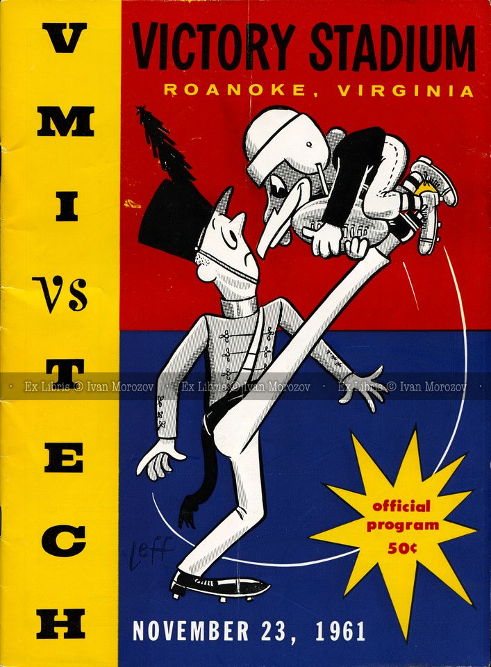 1961.11.23. Virginia Tech (Hokies) vs Virginia Military