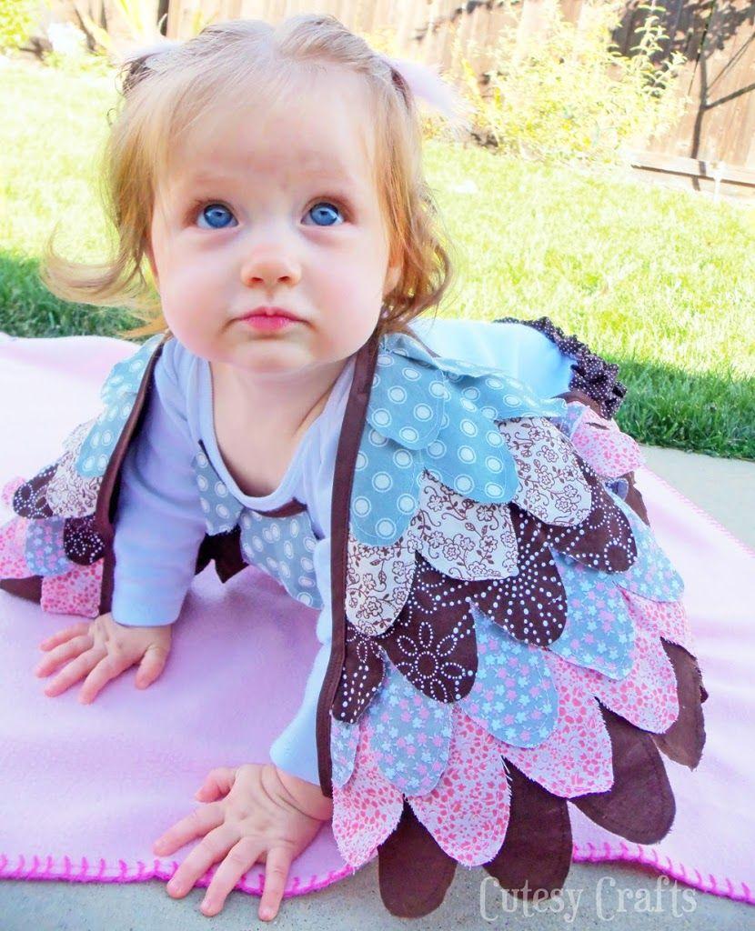 diy baby owl costume tutorial - Baby Owl Halloween Costumes