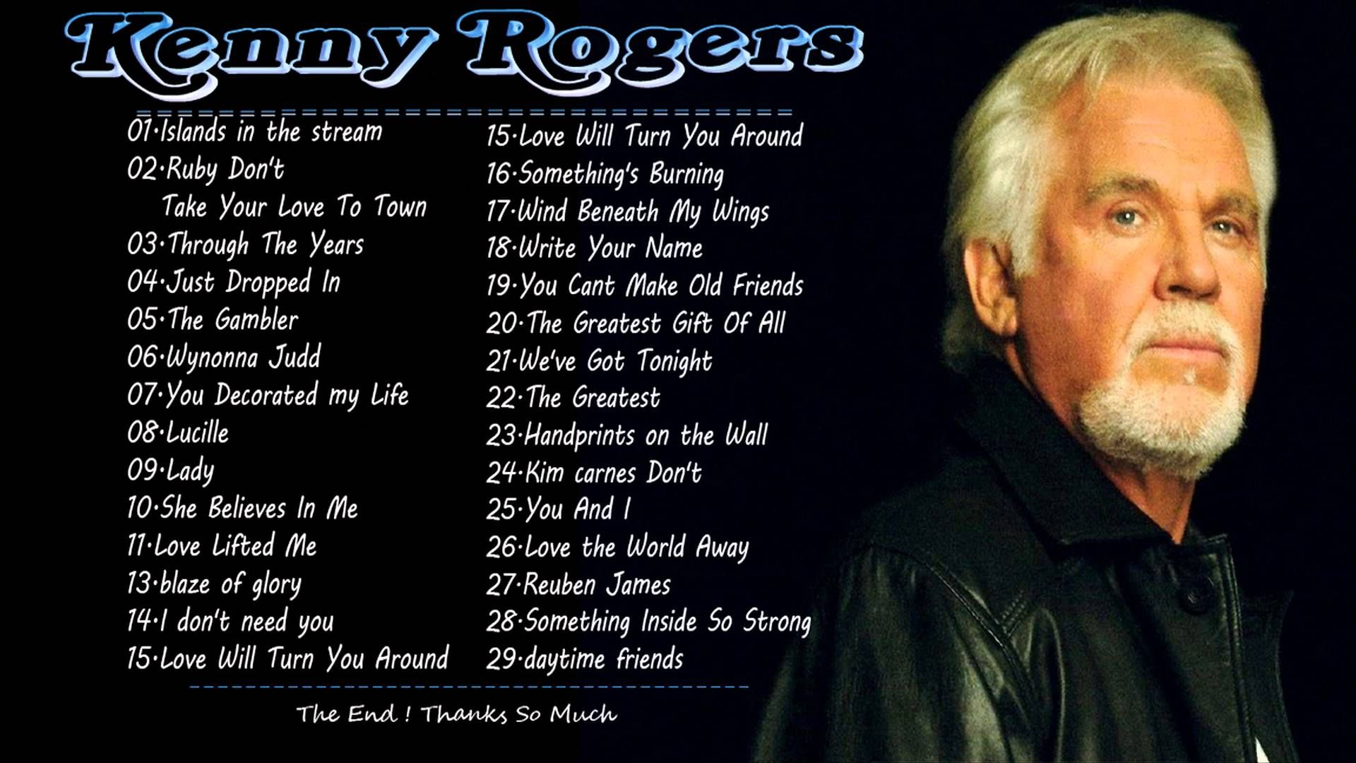 Kenny Rogers Greatest Hits Full Album | Best Songs Of Kenny Rogers ...