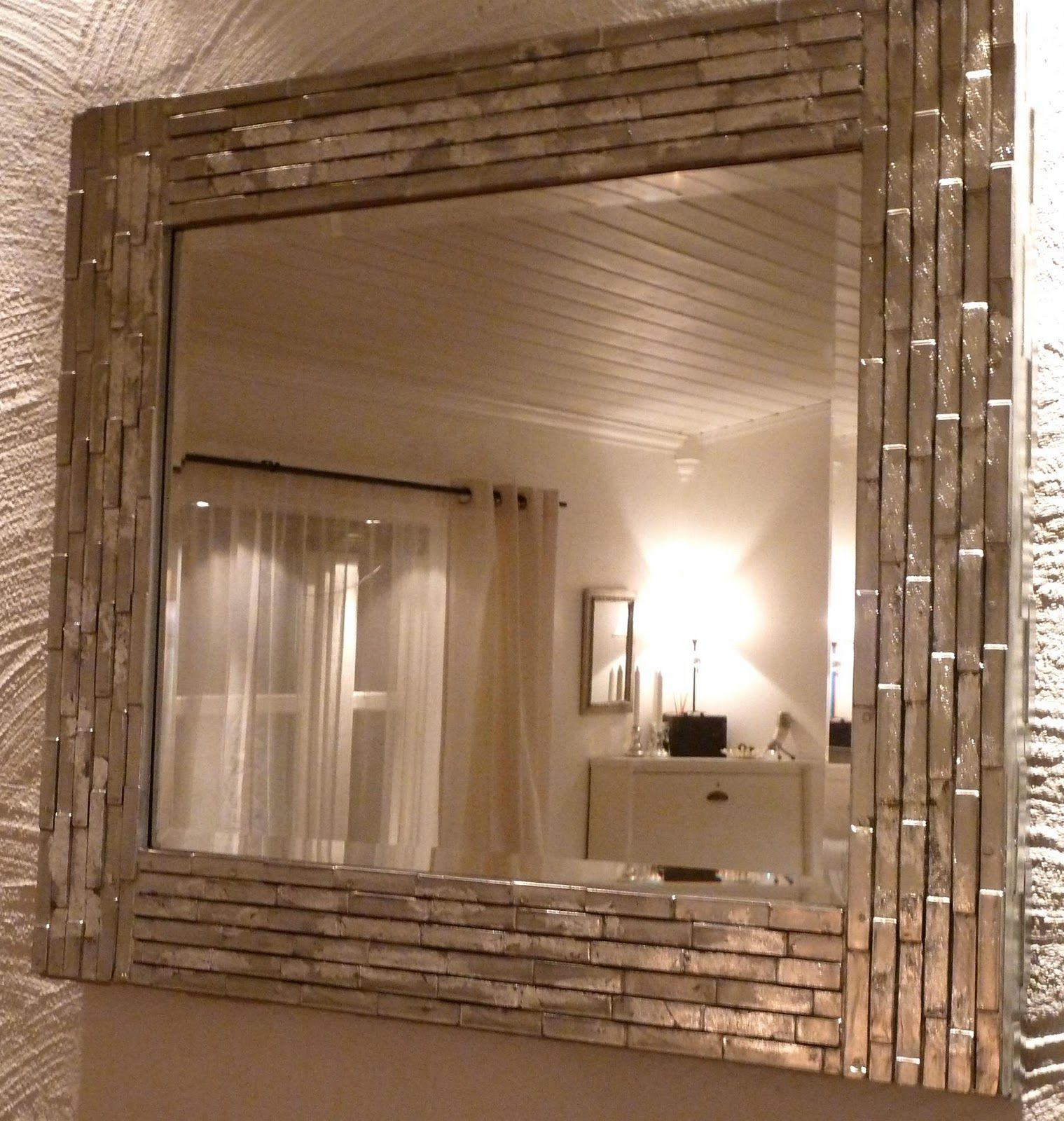 tile bathroom mirror frame diy mirror i like the silver finish home 20813