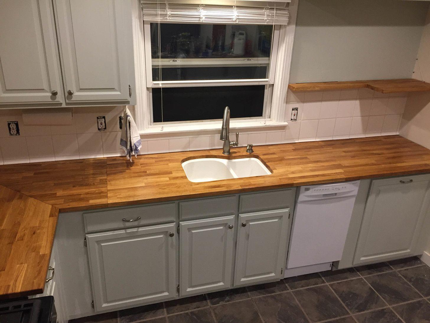 Ikea Countertops Hammarp Oak Kitchen Upgrades Diy Kitchen