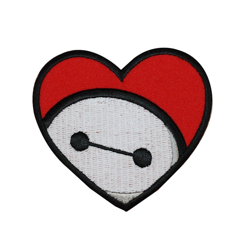 Big Hero 6 Baymax Heart Patch Disney Child S Outfit Etsy In 2021 Disney Patches Diy Patches Iron On Patches