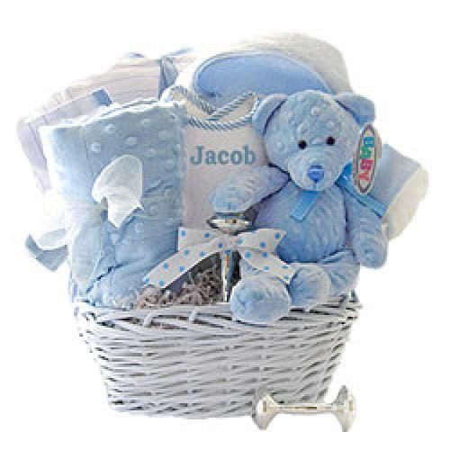 Minky dots personalized baby boy gift basket httpwww minky dots personalized baby boy gift basket http247babygifts negle Image collections