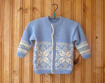 db48dde89 Light blue baby hand knitted wool newborn cardigan clothes kids knit ...