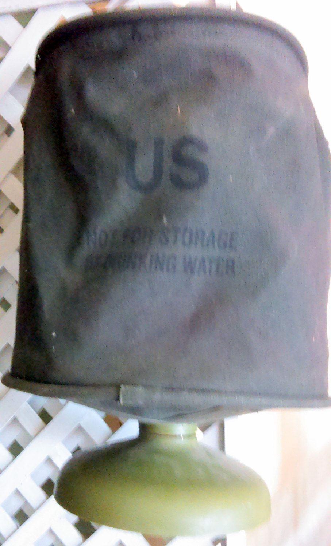 Vintage Us Military 5 Gallon Collapsible Cotton Duck