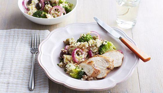 broccoli -quinoasalade met boursin