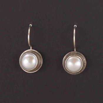 JL Walsh Metalsmith Jewelry Earrings Sterling Silver Large Bezel