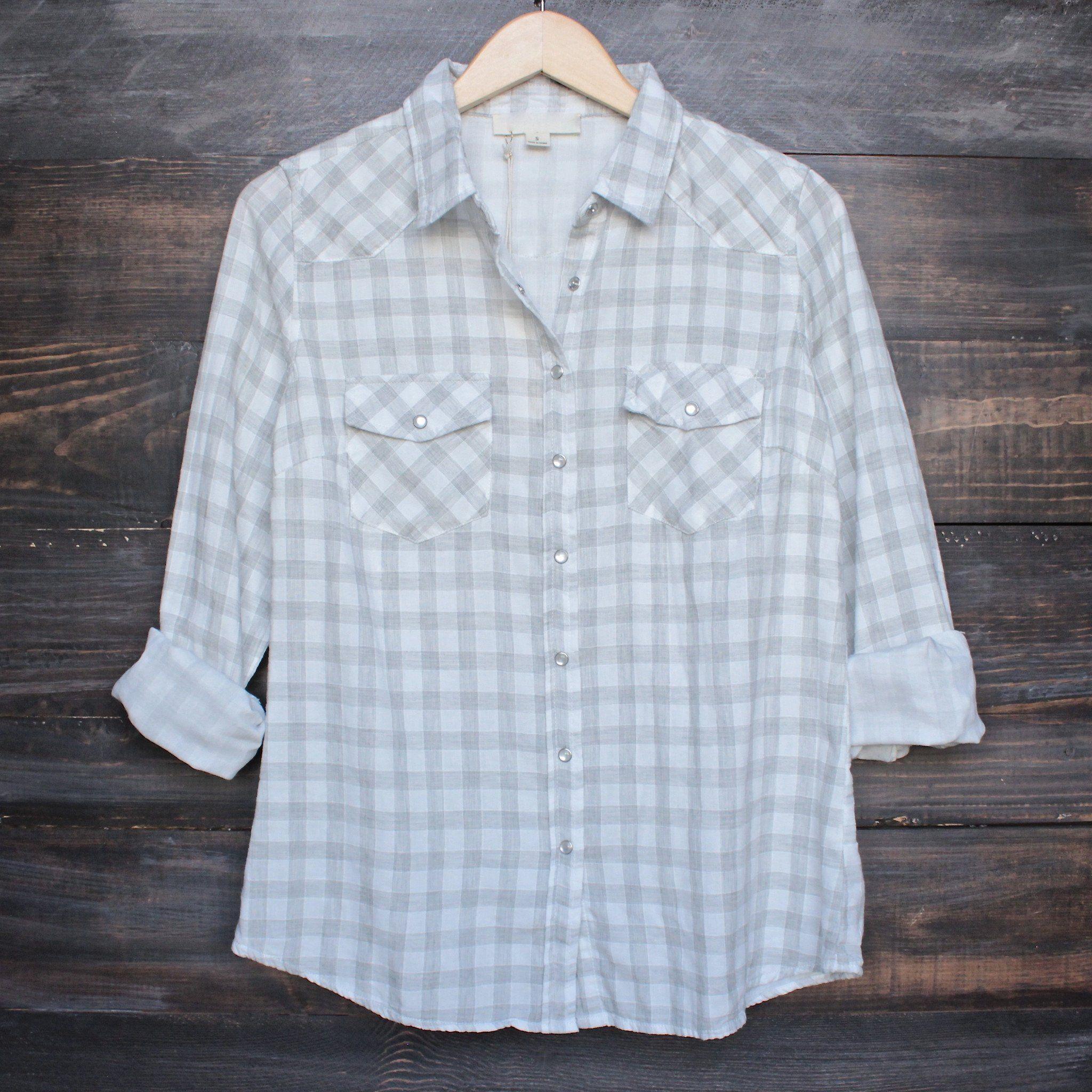 Flannel shirt vintage  Vintage affair soft button up womens plaid flannel long sleeve shirt