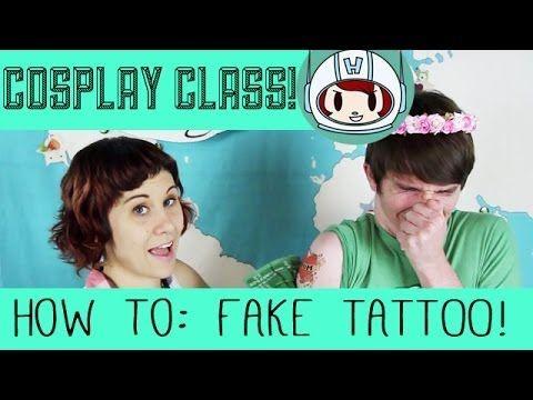 Custom Temporary Tattoos - Cosplay Class - Ross Shows His Guns - Accompanying blog post - http://www.hollyconrad.com/blog/2014/5/25/cosplay-class-making-fake-tattoos
