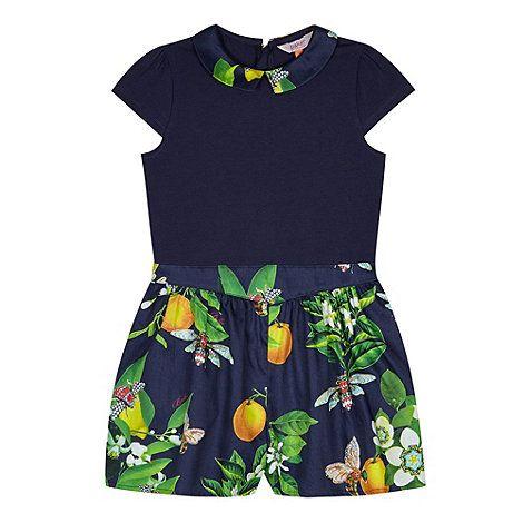 f526a6c067 Baker by Ted Baker Girl s navy blossom shorts playsuit- at Debenhams ...
