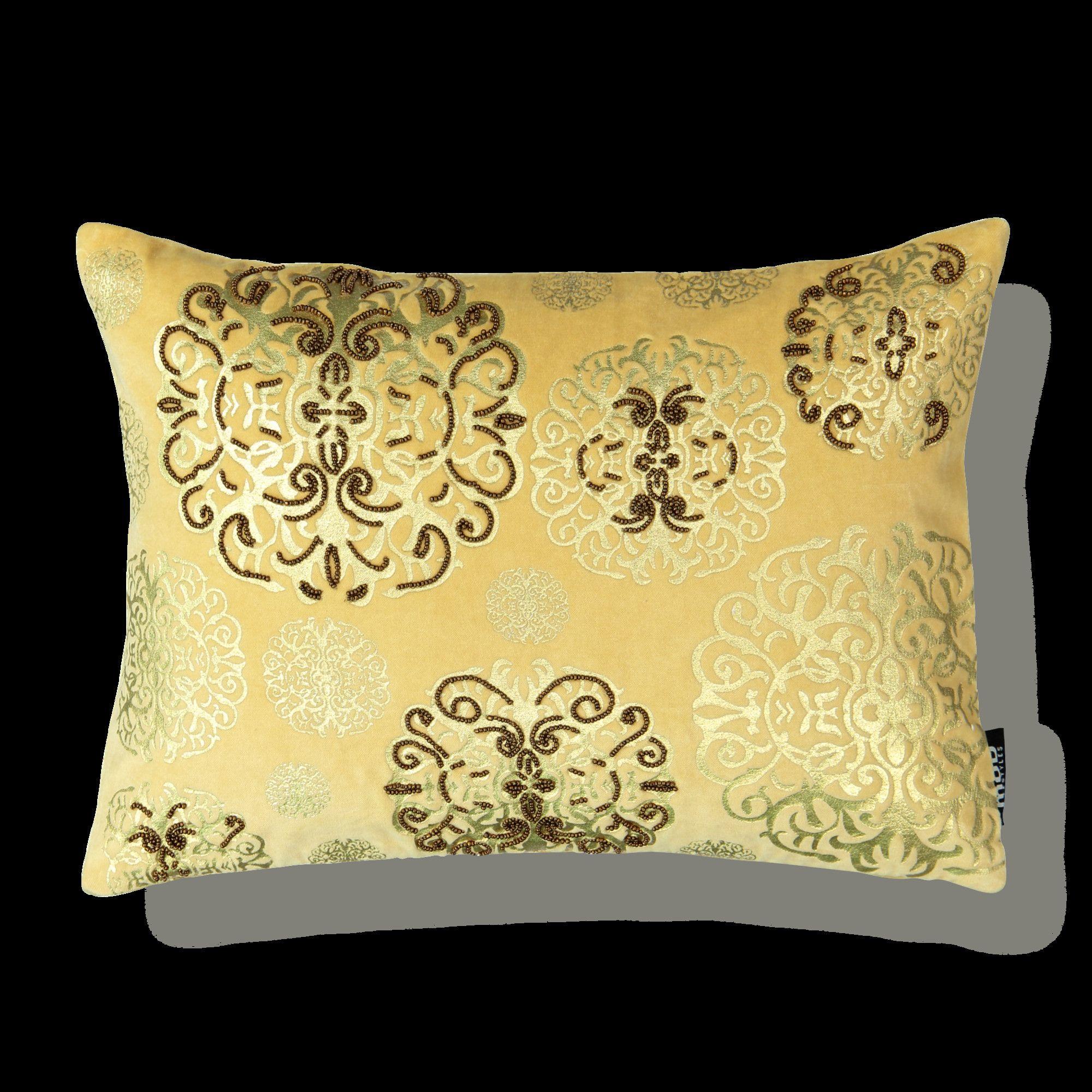 Medallion Cotton Lumbar Pillow