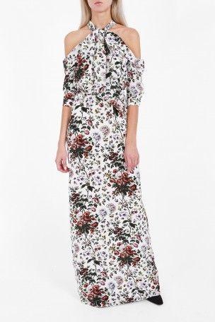 ERDEM Annaliese Cold-Shoulder Gown. #erdem #cloth #