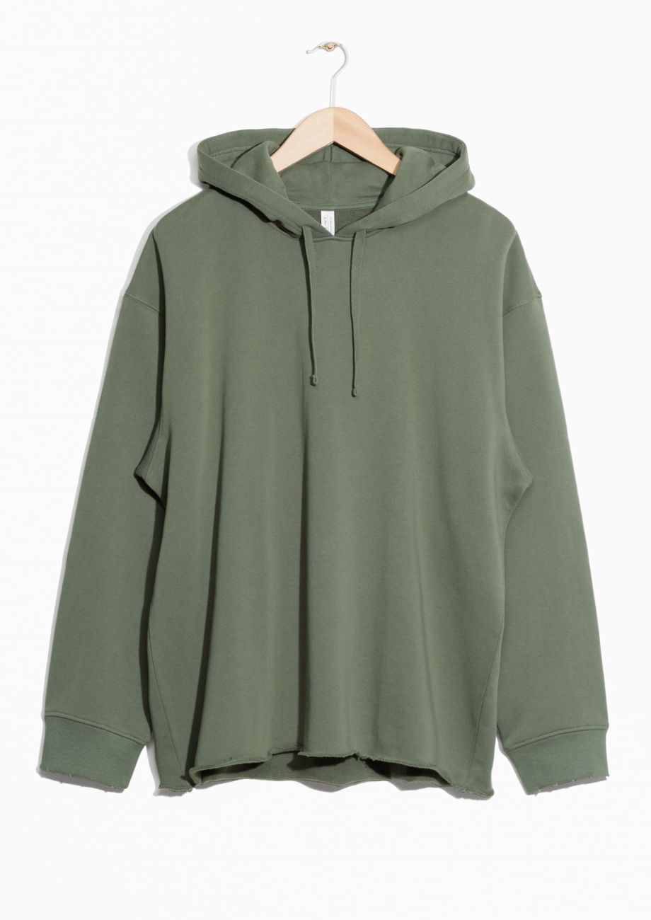 Other Stories Image 1 Of Oversized Hoodie In Khaki Green Hoodie Outfit Casual Hoody Outfits Oversize Hoodie [ 1300 x 920 Pixel ]